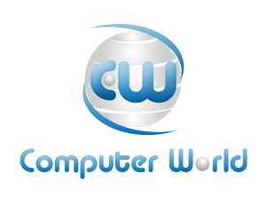 computer world logo blank